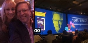 Verne Harnish (in my picture and on the screen picture) is the Founder of Entrepreneurs Organization, and a personal friend and mentor.