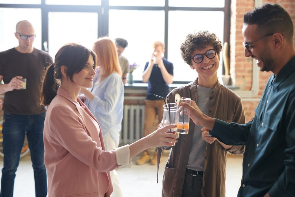 Culture of mingling among employees