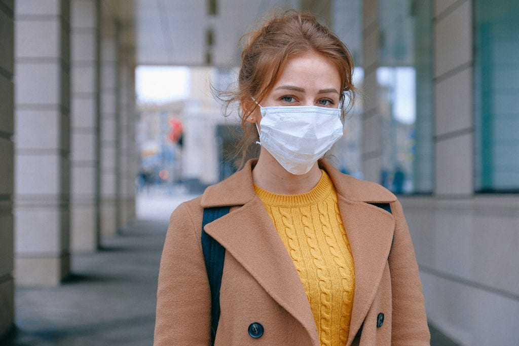 women wearing mask because of COVID-19 crisis
