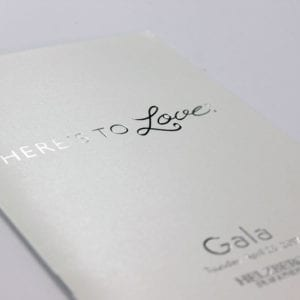 Silver Foil Stamp on Pearlized Cover