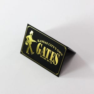 Die-Cut & Gold Foil Stamp | Gates BBQ