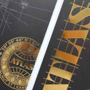 "Foil Stamp with Specialty Map Fold | <a href=""https://carpentercollective.com/"" target=""_blank"" rel=""noopener noreferrer"">Carpenter Collective</a>"